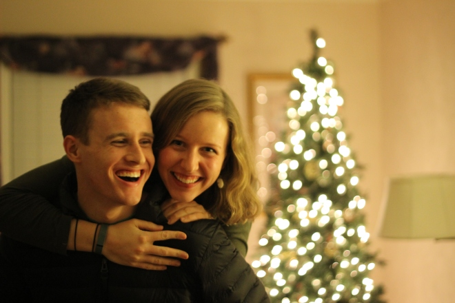 another favorite picture of John and I from last Christmas time